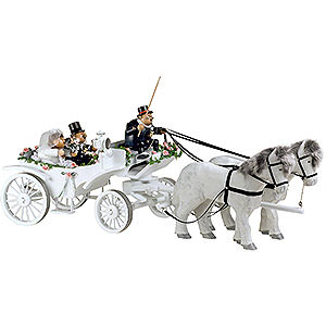 Räuchermänner Sonstige Figuren Räuchermännchen Hochzeitskutsche - Kantenhocker