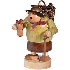 Räuchermänner Sonstige Figuren Räuchermännchen Holzweibl - 15 cm