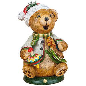 Kleine Figuren & Miniaturen Tiere Bären Räuchermännchen Hubiduu - Teddys Schaukelpferd - 14 cm