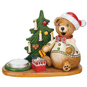 Räuchermänner Tiere Räuchermännchen Hubiduu - Teddys Weihnachtsgeschenke mit Teelicht - 14 cm