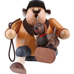 Räuchermänner Hobbies Räuchermännchen Hundefreund - Kantenhocker - 16 cm