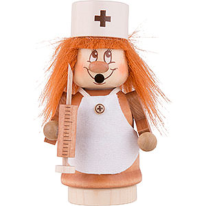 Räuchermänner Berufe Räuchermännchen Miniwichtel Krankenschwester - 13,5 cm