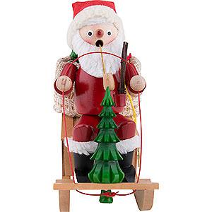 Räuchermänner Weihnachtsmänner Räuchermännchen Niko-Schlitten mit Musik - 25 cm