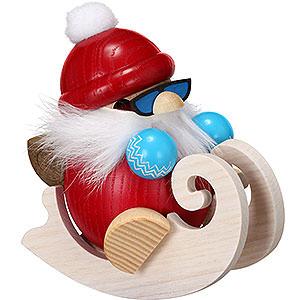 Räuchermänner Weihnachtsmänner Räuchermännchen Nikolaus fährt Schlitten - Kugelräucherfigur - 12 cm