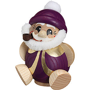 Räuchermänner Weihnachtsmänner Räuchermännchen Nikolaus purpur-gold - Kugelräucherfigur - 11 cm