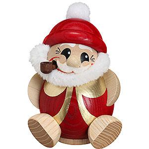 Räuchermänner Weihnachtsmänner Räuchermännchen Nikolaus rot-gold - Kugelräucherfigur - 11 cm