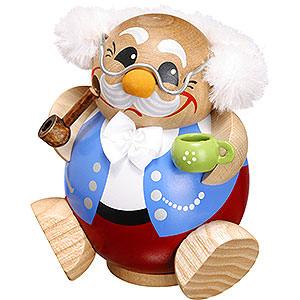 Räuchermänner Sonstige Figuren Räuchermännchen Pensionär - Kugelräucherfigur - 10 cm