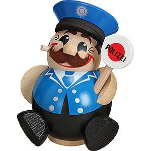 Räuchermänner Berufe Räuchermännchen Polizist - Kugelräucherfigur - 12 cm