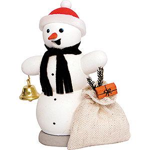 Räuchermänner Schneemänner Räuchermännchen Schneemann mit Geschenkesack - 13 cm