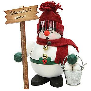 Räuchermänner Schneemänner Räuchermännchen Schneemann mit Schneebällen - 17 cm