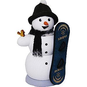 Räuchermänner Schneemänner Räuchermännchen Schneemann mit Snowboard - 13 cm