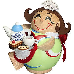 Räuchermänner Sonstige Figuren Räuchermännchen Schokoladenmädchen - Kugelräucherfigur - 11 cm