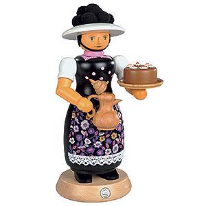 Räuchermänner Sonstige Figuren Räuchermännchen Schwarzwaldfrau mit rauchender Kanne - 25 cm