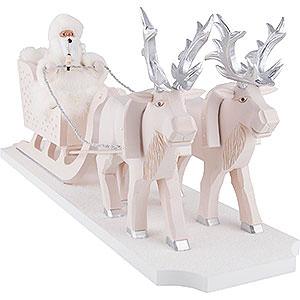 Räuchermänner Weihnachtsmänner Räuchermännchen Väterchen Frost mit Rentierschlitten - 26 cm