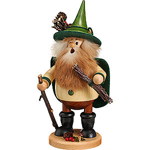 Räuchermänner Sonstige Figuren Räuchermännchen Waldwichtel Holzsammler, grün - 25 cm