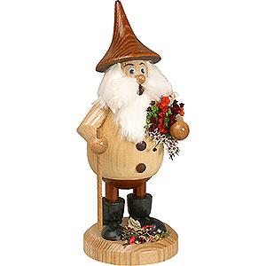 Räuchermänner Sonstige Figuren Räuchermännchen Waldwichtel Kräuterwichtel natur, Hut braun - 15 cm