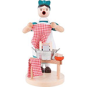 Räuchermänner Berufe Räuchermännchen Waschfrau - 18 cm