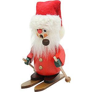 Räuchermänner Weihnachtsmänner Räuchermännchen Weihnachtsmann auf Ski - 11,0 cm