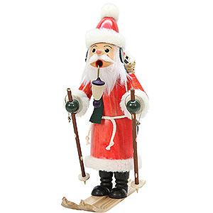 Räuchermänner Weihnachtsmänner Räuchermännchen Weihnachtsmann auf Ski - 29,0 cm