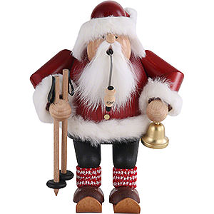 Räuchermänner Weihnachtsmänner Räuchermännchen Weihnachtsmann auf Skier - 20 cm