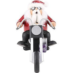 Räuchermänner Hobbies Räuchermännchen Weihnachtsmann auf Trike - 15 cm
