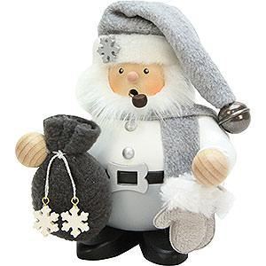Räuchermänner Weihnachtsmänner Räuchermännchen Weihnachtsmann grau - 15 cm