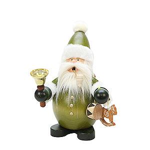 Räuchermänner Weihnachtsmänner Räuchermännchen Weihnachtsmann grün - 22 cm