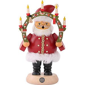 Räuchermänner Weihnachtsmänner Räuchermännchen Weihnachtsmann mit Kerzenbogen 18 cm