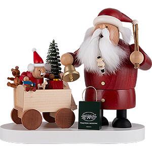 Räuchermänner Weihnachtsmänner Räuchermännchen Weihnachtsmann mit Kind - 21 cm
