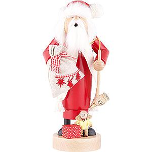 Räuchermänner Weihnachtsmänner Räuchermännchen Weihnachtsmann mit Puppe - 25 cm