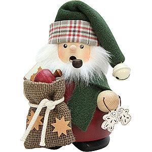 Räuchermänner Weihnachtsmänner Räuchermännchen Weihnachtsmann mit Sack - 13,5 cm