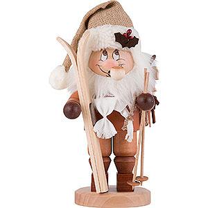 Räuchermänner Weihnachtsmänner Räuchermännchen Weihnachtsmann mit Ski - 28,5 cm