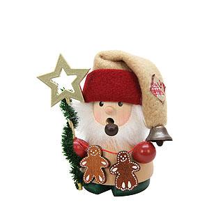 Räuchermänner Weihnachtsmänner Räuchermännchen Weihnachtsmann mit Stern - 10 cm