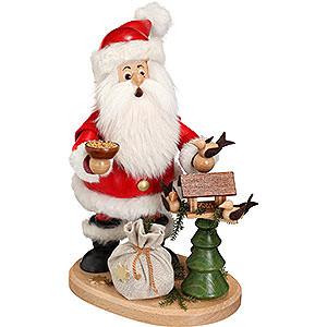 Räuchermänner Weihnachtsmänner Räuchermännchen Weihnachtsmann mit Vogelhaus - 22 cm