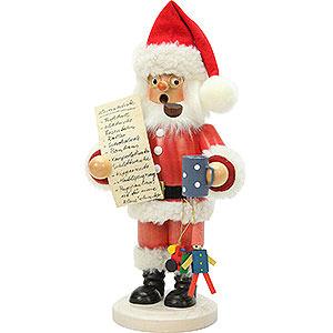 Räuchermänner Weihnachtsmänner Räuchermännchen Weihnachtsmann mit Wunschzettel - 26 cm
