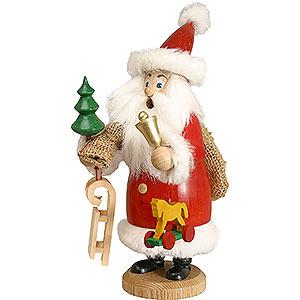 Räuchermänner Weihnachtsmänner Räuchermännchen Weihnachtsmann rot mit Fell und Geschenke - 20 cm