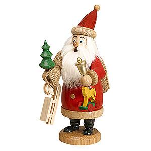 Räuchermännchen Weihnachtsmann rot mit Geschenke - 20 cm