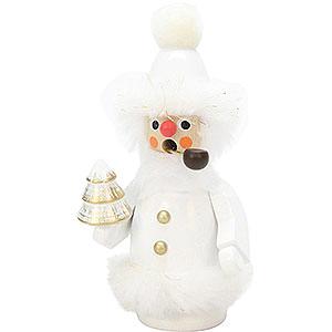 Räuchermänner Weihnachtsmänner Räuchermännchen Weihnachtsmann weiß - 12 cm