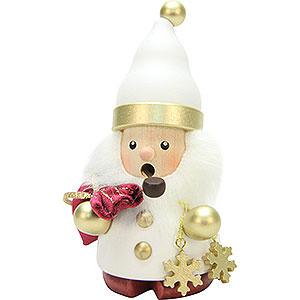 Räuchermänner Weihnachtsmänner Räuchermännchen Weihnachtsmann weiß/gold - 12,5 cm