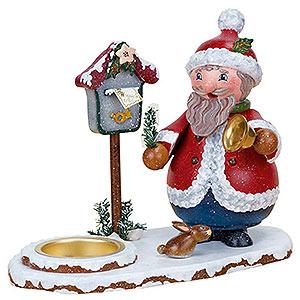 Räuchermänner Weihnachtsmänner Räuchermännchen Weihnachtswichtel mit Teelicht - 14 cm