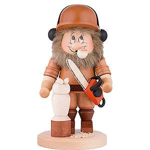 Räuchermänner Hobbies Räuchermännchen Wichtel Motorsägenschnitzer - 29 cm