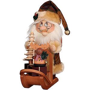 Räuchermänner Weihnachtsmänner Räuchermännchen Wichtel Weihnachtsmann mit Schlitten - 28 cm