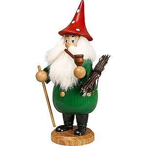 Räuchermänner Sonstige Figuren Räuchermännchen Wurzelzwerg grün, Hut rot - 19 cm