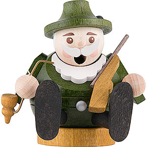 Räuchermänner Berufe Räuchermännchen mini sitzend - Förster - 7 cm