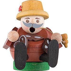 Räuchermänner Berufe Räuchermännchen mini sitzend - Pfefferkuchenverkäufer - 8 cm