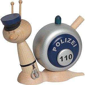 Räuchermänner Berufe Räucherschnecke Sunny Polizeischnecke - 16 cm