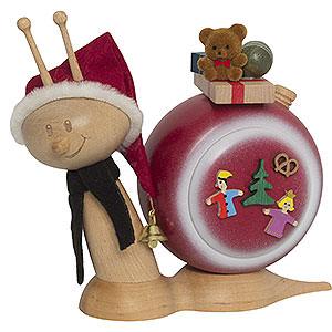 Räuchermänner Weihnachtsmänner Räucherschnecke Sunny Weihnachtsschnecke - 16 cm