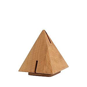Räuchermänner Sonstige Figuren Räucherskulptur  Pyramide aus Eiche - 12 cm