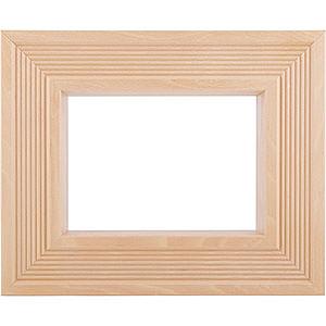Räuchermänner Zubehör Rahmen für Kantenhocker - 33 cmx27 cmx8 cm - Farbe: natur