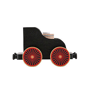 Smokers KWO Railroad Railroad Car Black 12 cm / 4,7 inch